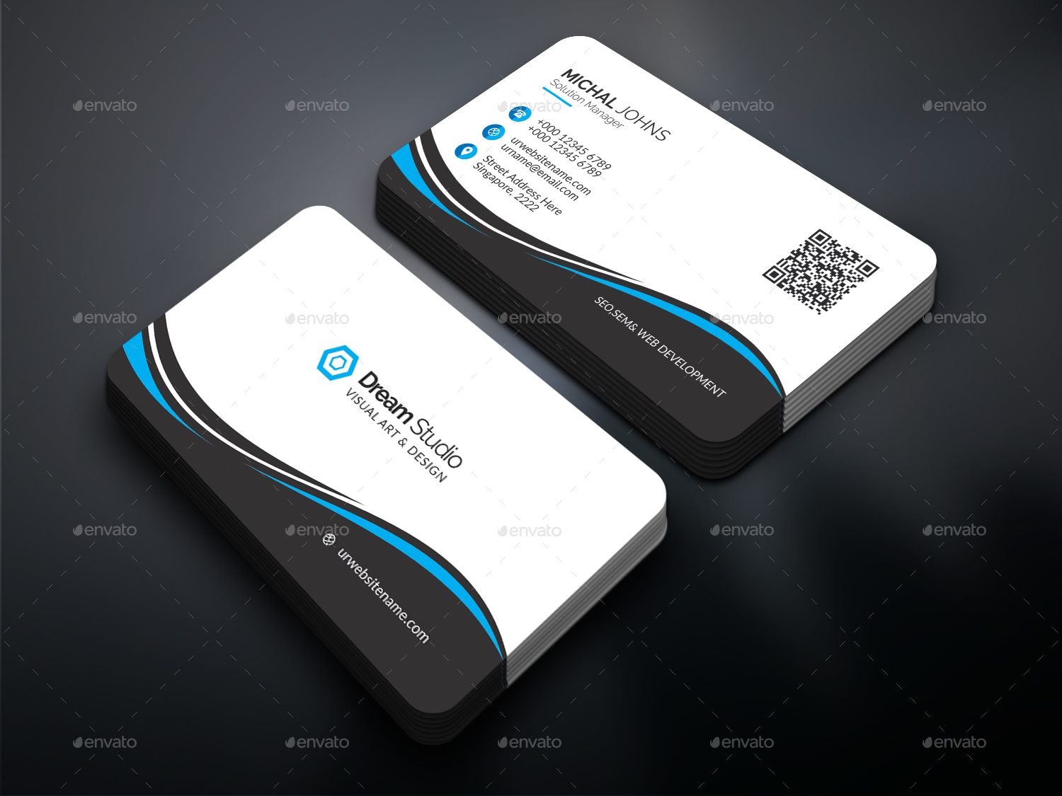 30 free psd business cards templates for powerful business free download wajeb Gallery