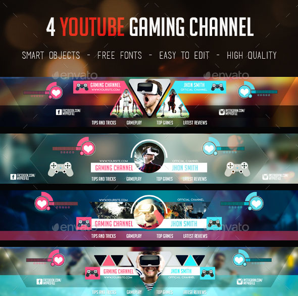 30premium free psd youtube channel banners for the best creative it also can be used for other channels like reviewing channels movies vlogs free fonts used fully customizable and easy editable template maxwellsz
