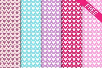 Free 5 Hearts Pattern