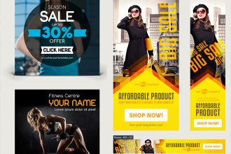 25+ Free PSD Sets of Website and App Banners for professionals!