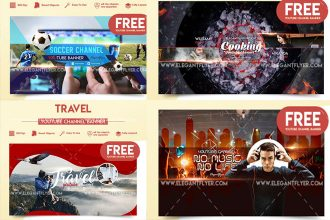 20+ FREE PSD YouTube Channel Banners for the best creative promoters!