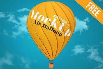 Air Balloon – Free PSD Mockup