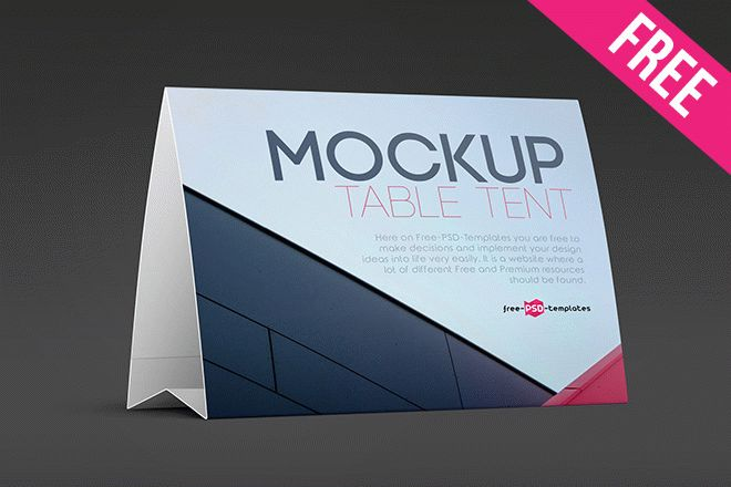 Name Table Tent Template from free-psd-templates.com