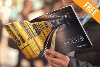 Magazine v2 – 2 Free PSD Mockups