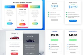 25+ FREE PSD Pricing Tables Templates for the best website design!
