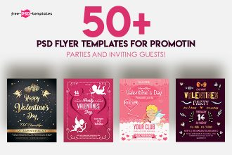 50+PREMIUM & FREE PSD FLYER TEMPLATES FOR PROMOTIN PARTIES AND INVITING GUESTS!