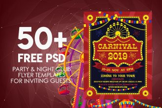 50+ PREMIUM & FREE PSD PARTY & NIGHT CLUB FLYER TEMPLATES FOR INVITING GUESTS!
