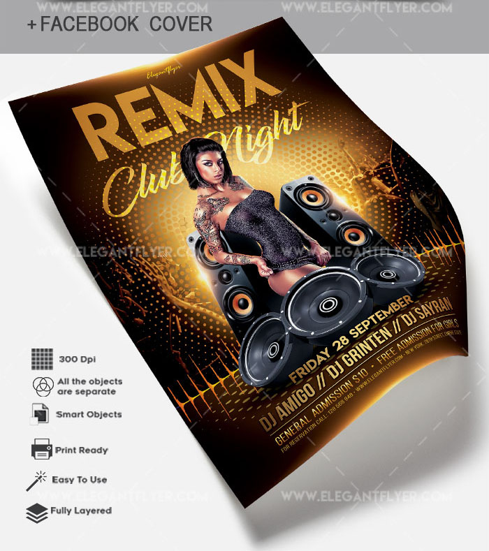 54 premium free psd party night club flyer templates for