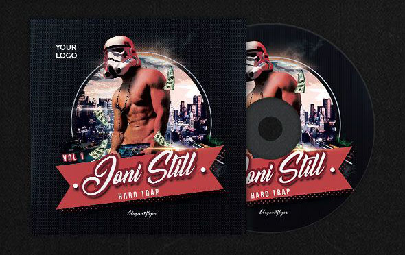 Hard Trap Free Psd Cd Dvd Cover Template