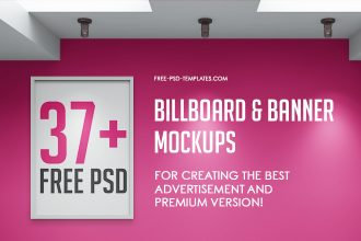 37+ Free PSD Billboard & Banner Mockups for creating the best advertisement and Premium Version!