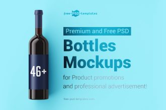 46+Premium & Free PSD Bottles Mockups for Product promotions and professional advertisement!