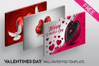 Free Valentine Day Wallpaper IN PSD