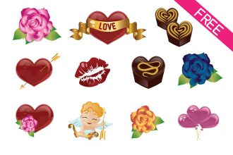 Free Vector Valentine's Day Icons