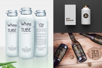 30+ Free PSD Bottles Mockups for Product promotions and professional advertisement!