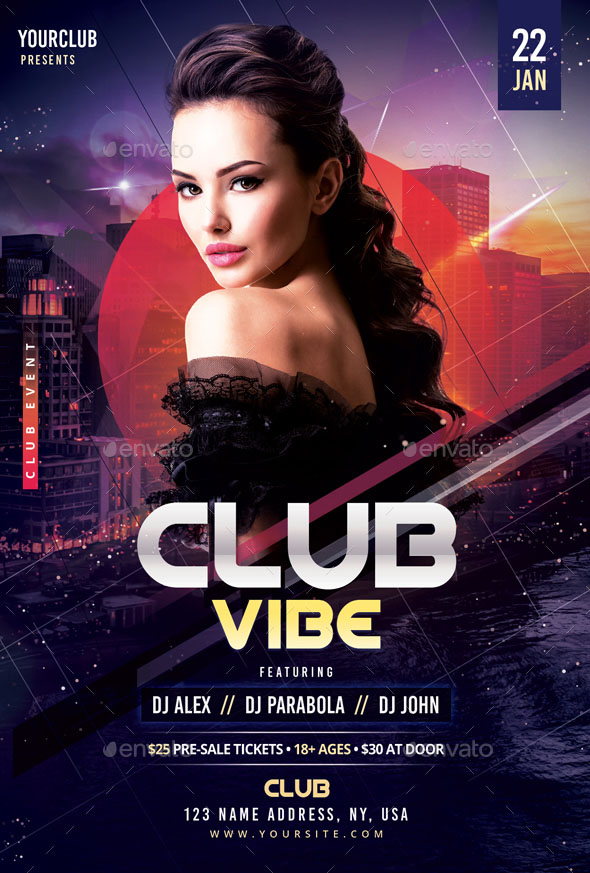 50 Premium Free Psd Party Night Club Flyer Templates For