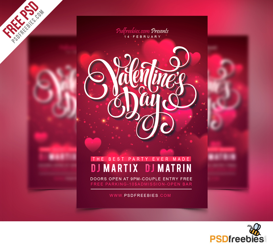 30 Free PSD Flyer Templates For Promoting Parties And Inviting Guests! |  Free PSD Templates  Coupon Flyer Template