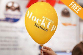 Balloon – Free PSD Mockup
