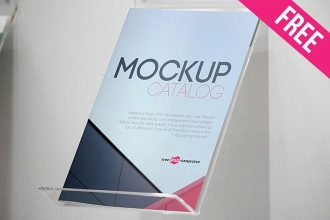 Free Catalog Mock-up in PSD