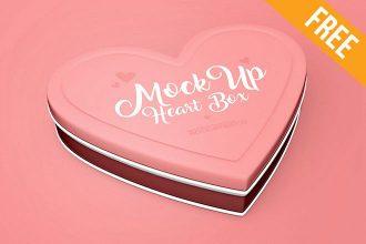 Heart Box – Free PSD Mockup