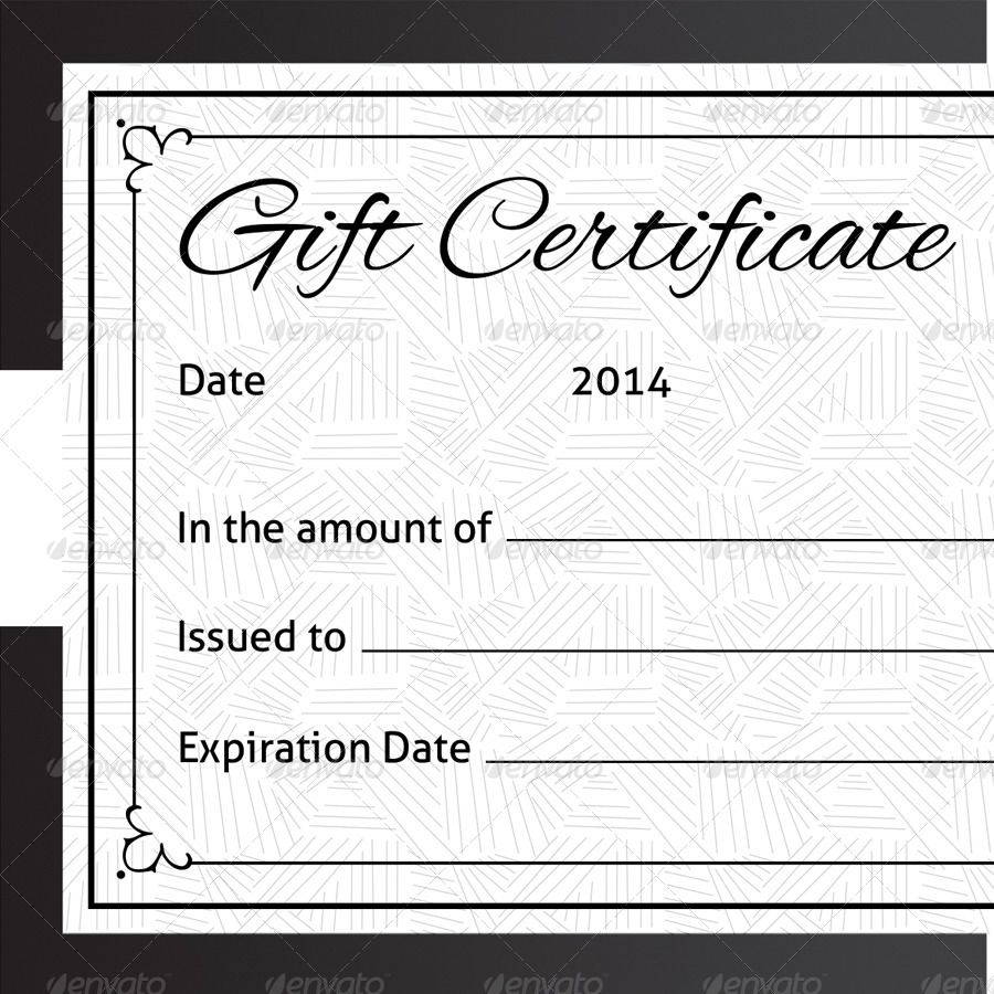 51 Premium Free Psd Professional Gift Certificates Templates For