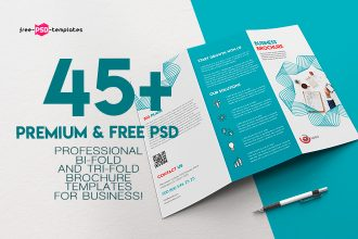 45+PREMIUM & REE PSD PROFESSIONAL BI-FOLD AND TRI-FOLD BROCHURE TEMPLATES FOR BUSINESS!