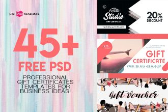 45+Premium & Free PSD Professional Gift Certificates Templates for Business Ideas!