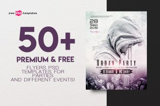 50+PREMIUM & FREE FLYERS PSD TEMPLATES FOR PARTIES AND DIFFERENT EVENTS!