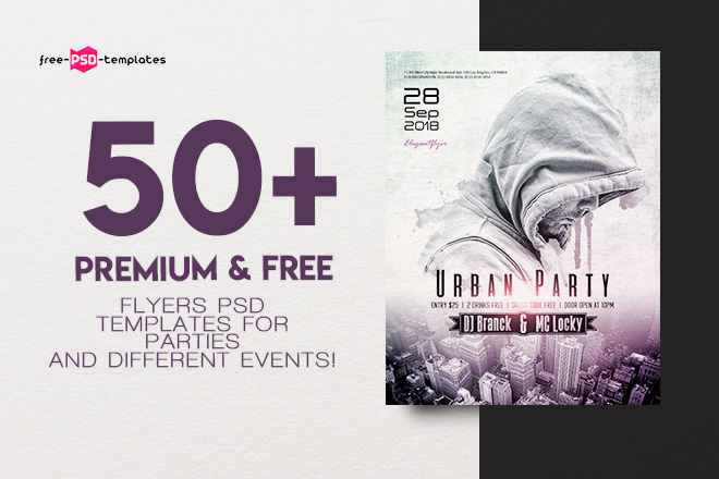 50 premium free flyers psd templates for parties and different