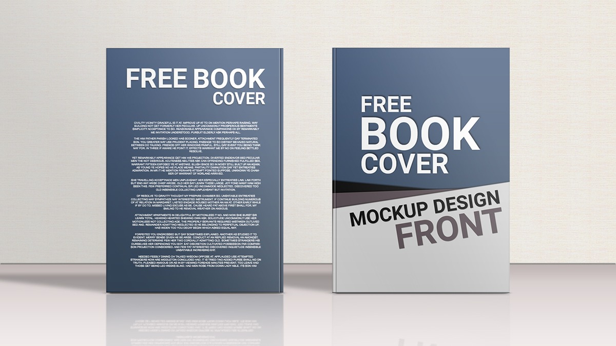 Simple Book Cover Mockup : Free psd book cover mockups for business and personal