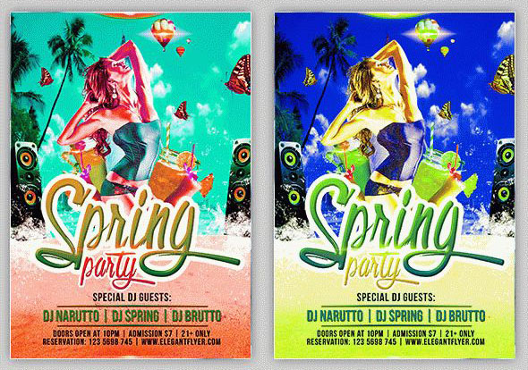 Free Psd Spring Flyer Templates For The Best Night Club Parties