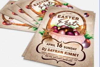 25 Easter PSD Party Flyer Templates in PSD for Holidays!