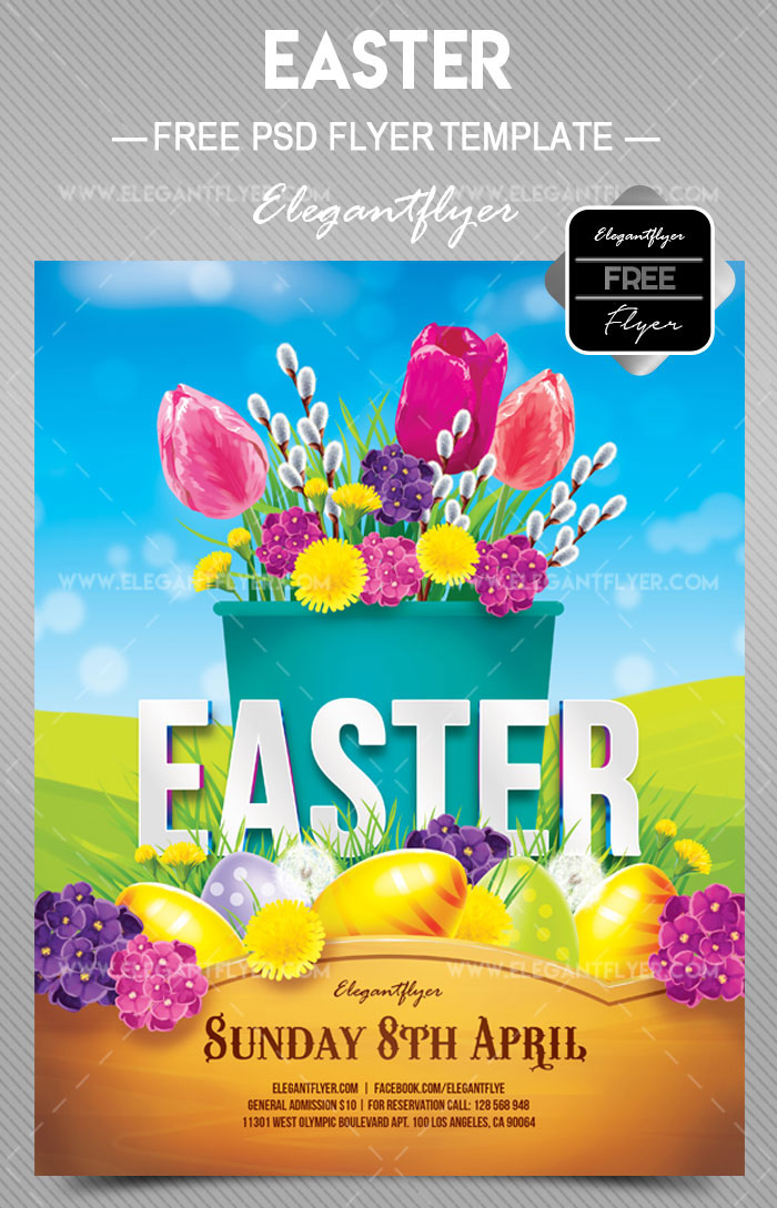 Easter Psd Party Flyer Templates In Psd For Holidays  Free Psd