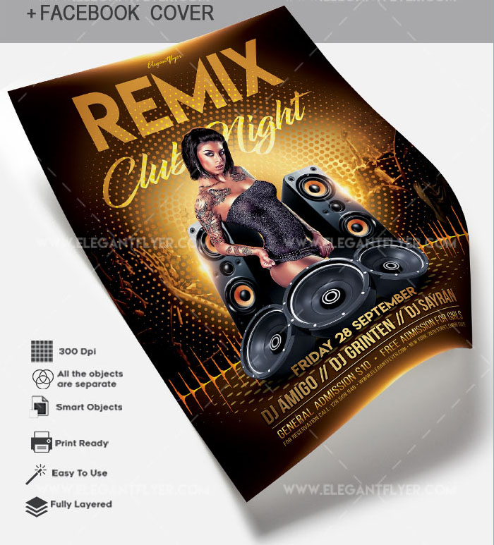 50+PREMIUM & FREE FLYERS PSD TEMPLATES FOR PARTIES AND