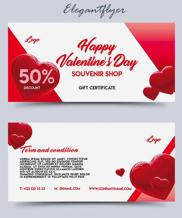 souvenir shop free psd gift certificate template - Gift Certificate Template Photoshop