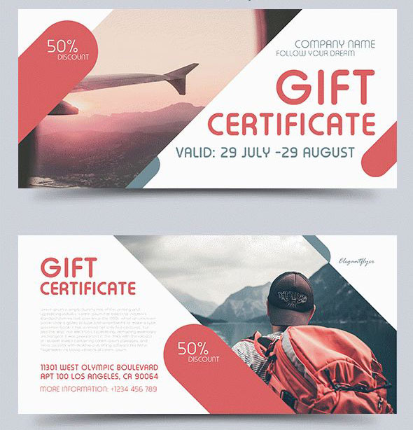 Free Psd Professional Gift Certificates Templates For Business
