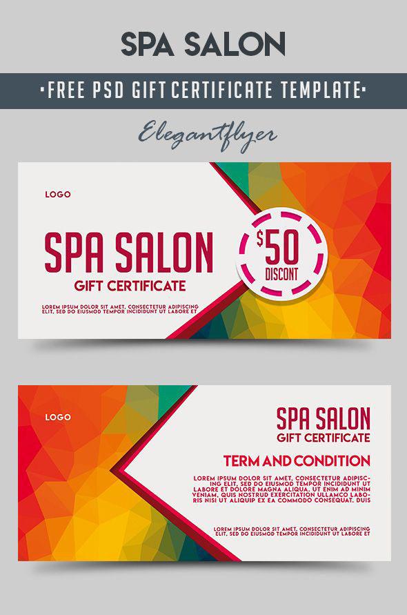 Spa Salon Free Gift Voucher Template