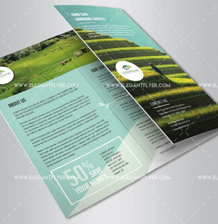 25 free psd professional bi fold tri fold brochure for Business brochure templates psd free download