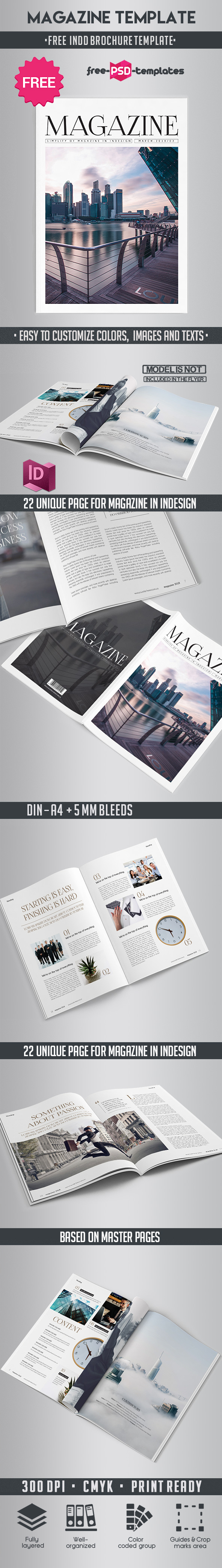 Free Magazine Indd Template Free Psd Templates