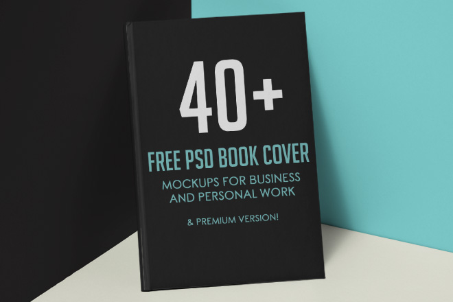 40 Free Psd Book Cover Mockups For Business And Personal
