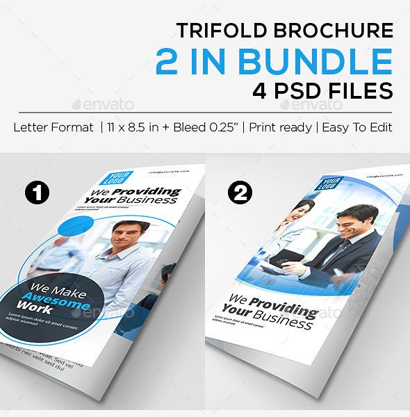45 premium ree psd professional bi fold and tri fold brochure