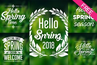 Free Spring Badges V02 IN PSD