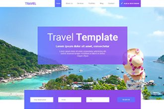 FREE PSD TEMPLATE TRAVEL WEB SITE