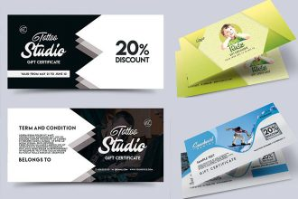 30 Free PSD Professional Gift Certificates Templates for Business Ideas!