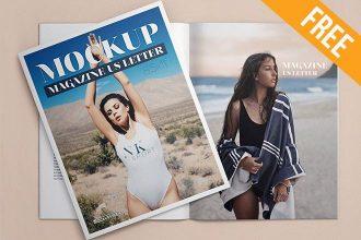 US Letter Magazine – 3 Free PSD Mockups