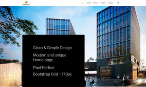 FREE PSD TEMPLATE CONSTRUCTION WEB SITE