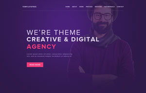 FREE PSD TEMPLATE AGENCY WEB SITE