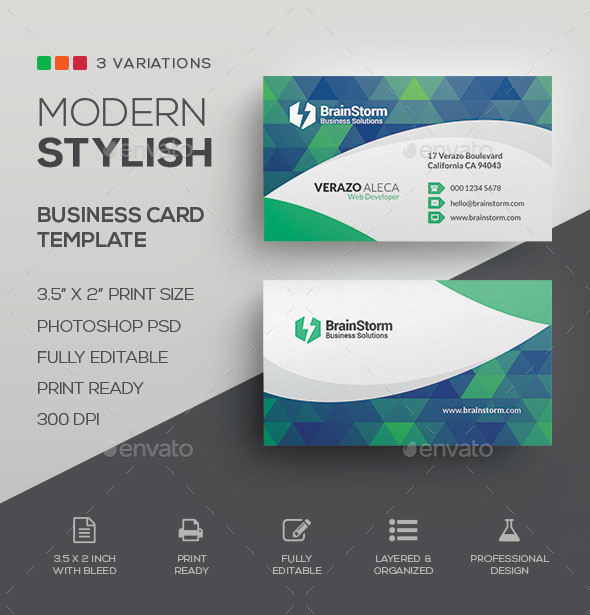 The best modern business cards templates in psd 2018 free psd download accmission Images
