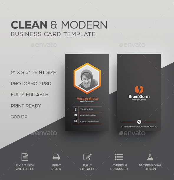 The best modern business cards templates in psd 2018 free psd download accmission Gallery
