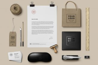 20 Free PSD Stationary Mockups for Professional Use and Creative Ideas!