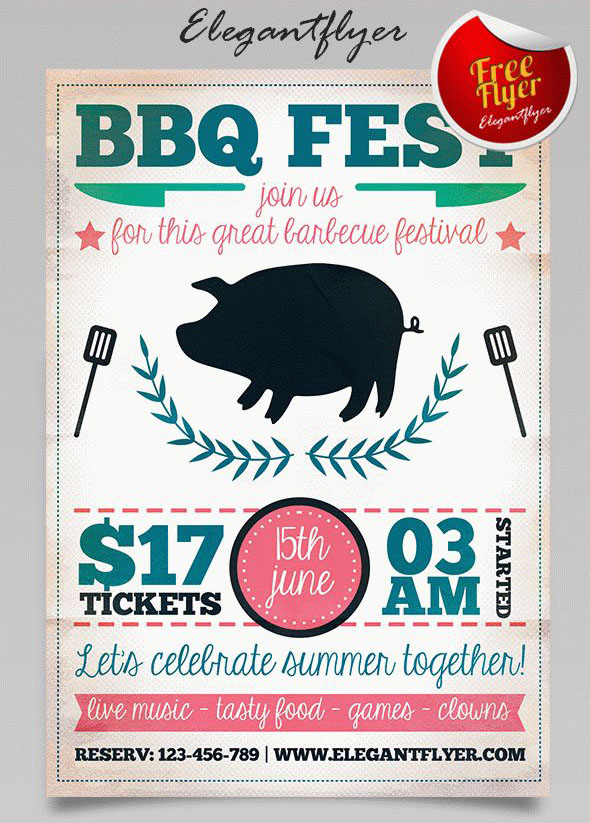 free bbq flyer template bbq flyer template free bbq party
